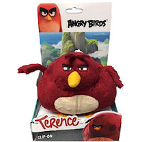 Angry Birds Movie Large Clip On Soft Toy - Terence