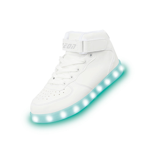 Neon Kyx - Size 7 Adult White High Top Light Up Shoes