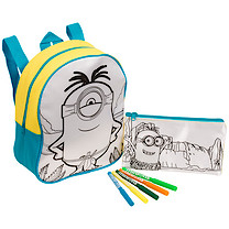 Minions Colour Your Own Bag and Pencil Case Set