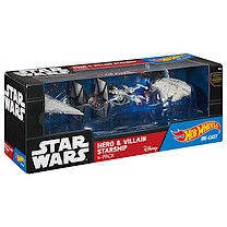 Hot Wheels Star Wars Die-cast vehicle 4 Pack - Hero & Villain Starship