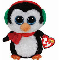 Ty Christmas Beanie Boos - Santa Penguin North