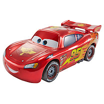 Disney Cars Collectible Lightning McQueen With Display Case