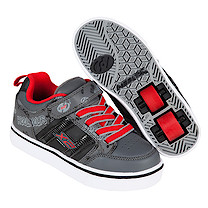 Heelys X2 Black and Red Bolt Skate Shoes - Size 13