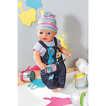 Baby Born Deluxe Denim Outfit with Camera Design