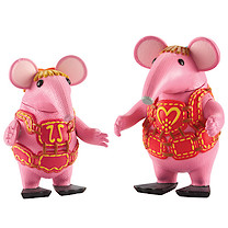 Clangers Collectible Figures 2 Pack - Tiny and Mother Clanger