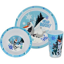 Disney Frozen Olaf Tumbler, Bowl & Plate Set