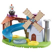 Weebledown Farm Weebles - Wobbily Farm Mill & Barn with Rusty the Rooster Weeble