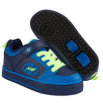 Heelys X2 Navy and Neon Thunder Skate Shoes - Size 1