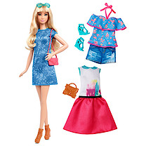 Barbie Fashionistas Lacey Blue Doll with Fashion Outfits