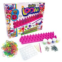 Jacks Adjustable Linko Loom with Make Your Own Air Clay Charms - 250 Loom Bands