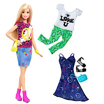 Barbie Fashionistas Peace & Love Doll with Fashion Outfits