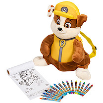 Paw Patrol Rubble Backpack with Colouring Accessories