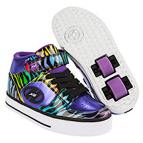 Heelys Purple and Black Multiprint X2 Cruz Skate Shoes - Size 3
