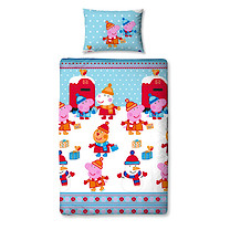 Peppa Pig Christmas Letters Single Rotary Duvet