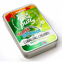 Nickelodeon Liquid Lava Putty Super Bounce Changing Colour - Green To Lime