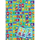 Teletubbies 2 Wrapping Paper Sheets & 2 Tags Pack
