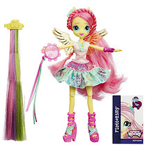 My Little Pony Equestria Girls Rainbow Rocks Rockin' Hairstyle Dolls - Fluttershy