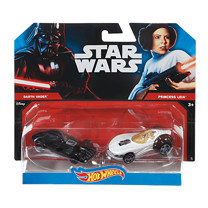Hot Wheels Star Wars Cars - Darth Vader & Princess Leia