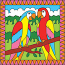 Galt Paint By Numbers Parrots and Tropical Fish Art Set