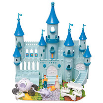 Blue Castle With Steeples And Accessories