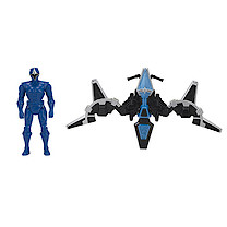 Power Rangers Mega Morph Glider With Blue Ranger