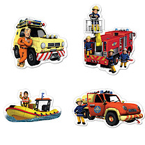 Fireman Sam 4 in 1 Shaped Puzzles