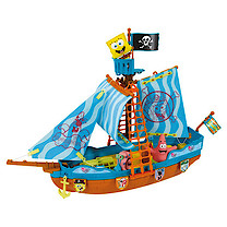 SpongeBob Pirate Boat Playset With 3 Figures: SpongeBob, Patrick Star & Gary The Snail