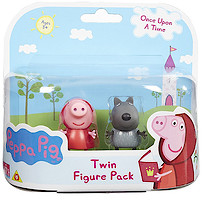 Peppa Pig Once Upon a Time Twin Figure Pack - Red Riding Hood Peppa and Danny Wolf
