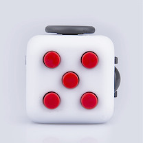 Fidget Cube Original Anti-Stress Toy - Red and White
