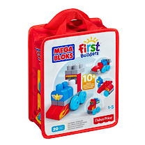Mega Bloks First Builders Build 'n' Learn Bag - Zoomin' Vehicles