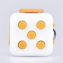 Fidget Cube Original Anti-Stress Toy - Orange and White