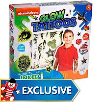 Nickelodeon Glow Tattoo Transfer Set