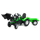 Falk Constructor with Trailer - Green