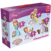 Disney Sofia the First 4 Shaped Puzzles
