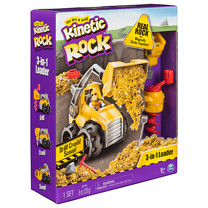 Kinetic Rock – 3-in-1 Loader with Construction Tools and Real Gold Rock