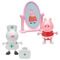 Peppa Pig Two Figure Pack with Accessories - Ballerina Peppa & Nurse Suzy