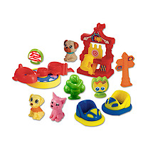 Pocket Pals Pet Amusement Park Playset with Car
