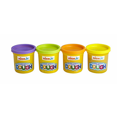 Nick. Jr Ready Steady Dough 4 Jumbo Pots Set (Colours Vary)