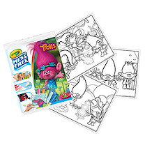 Crayola Mess Free Trolls Colouring Pages