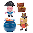 Peppa Pig Two Figure Pack with Accessories - Pirate George & Sheriff Pedro