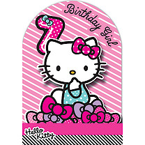 Hello Kitty Birthday Card - 7 Years