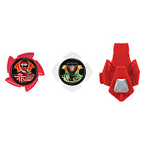 Power Ranger Ninja Steel 2 x Stars and Launcher - Red and White