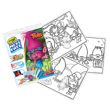 Crayola Mess Free Trolls Colouring Pages - The Entertainer - The ...