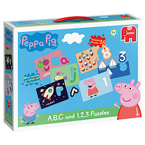 Peppa Pig ABC & 123 Puzzle Game