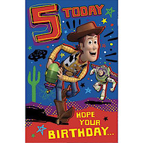 Disney Toy Story Birthday Card - 5 Years
