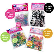 Jacks Loom Bands 192 Pack Bundle - 48000 Loom Bands
