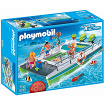 Playmobil 9233 Sports & Action Glass-Bottom Boat with Underwater Motor and Magnifying Glass