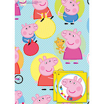 Peppa Pig 2 Sheets of Giftwrap and 2 Gift Tags