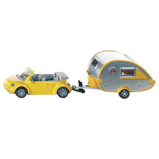 Die-Cast VW Beetle With Caravan