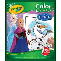 Crayola Disney Frozen Colour & Sticker Book - 48 Pages